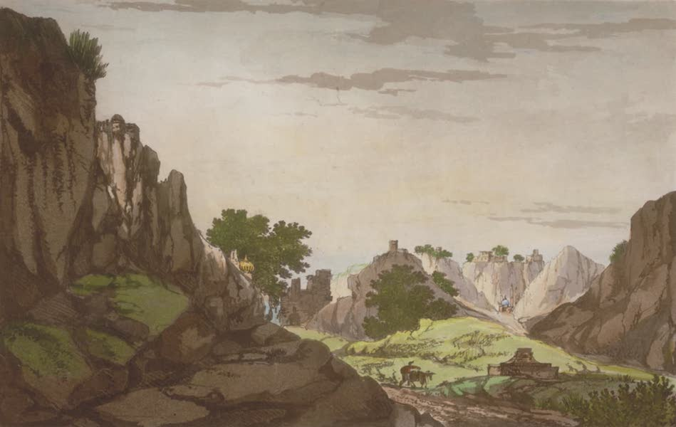 Select Views in India - A View of the Ravines at Etawa (1797)