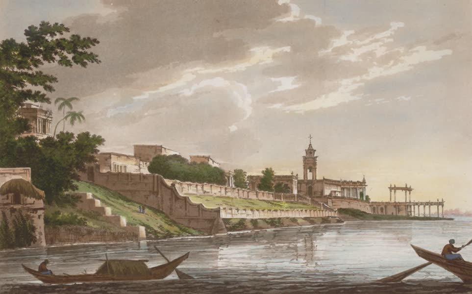 Select Views in India - A View of Chinsura the Dutch settlement in Bengal (1797)