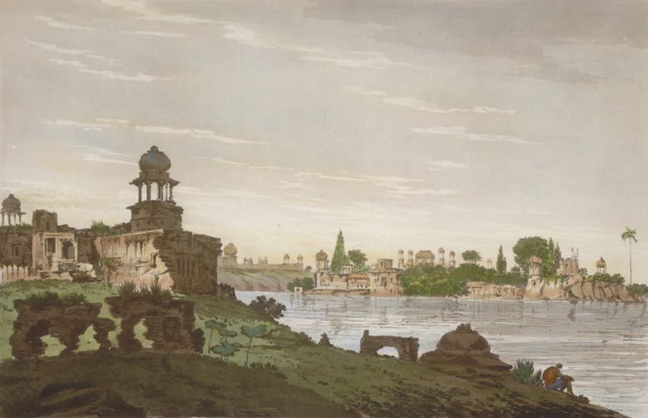 Select Views in India - A View of Part of the Ruins of the City of Agra (1797)