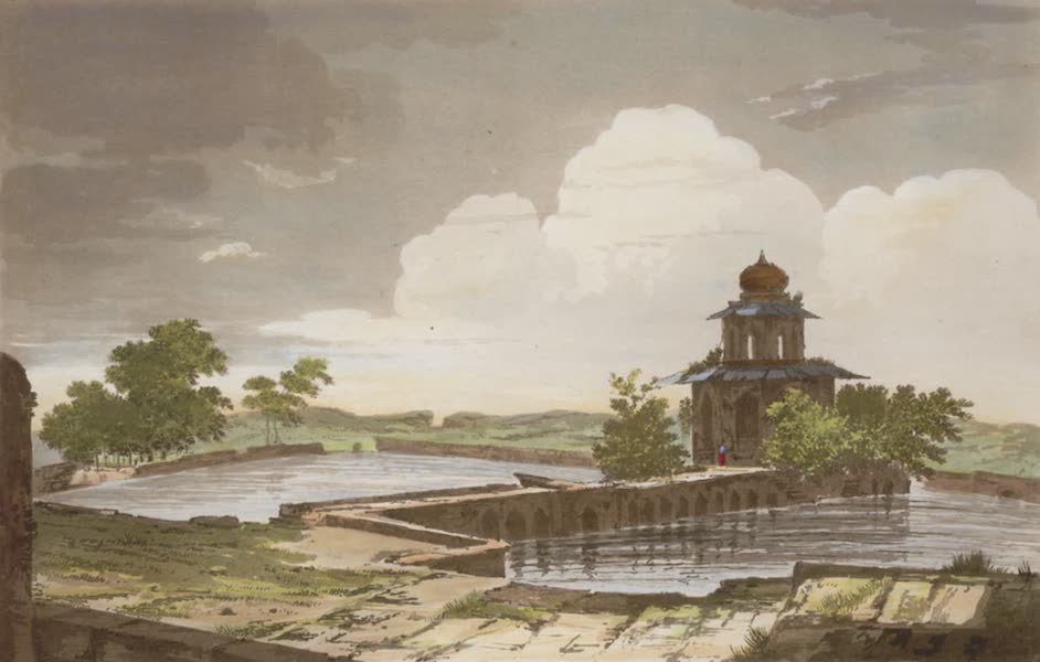 Select Views in India - A View of a Mausoleum at Etmadpoor (1797)