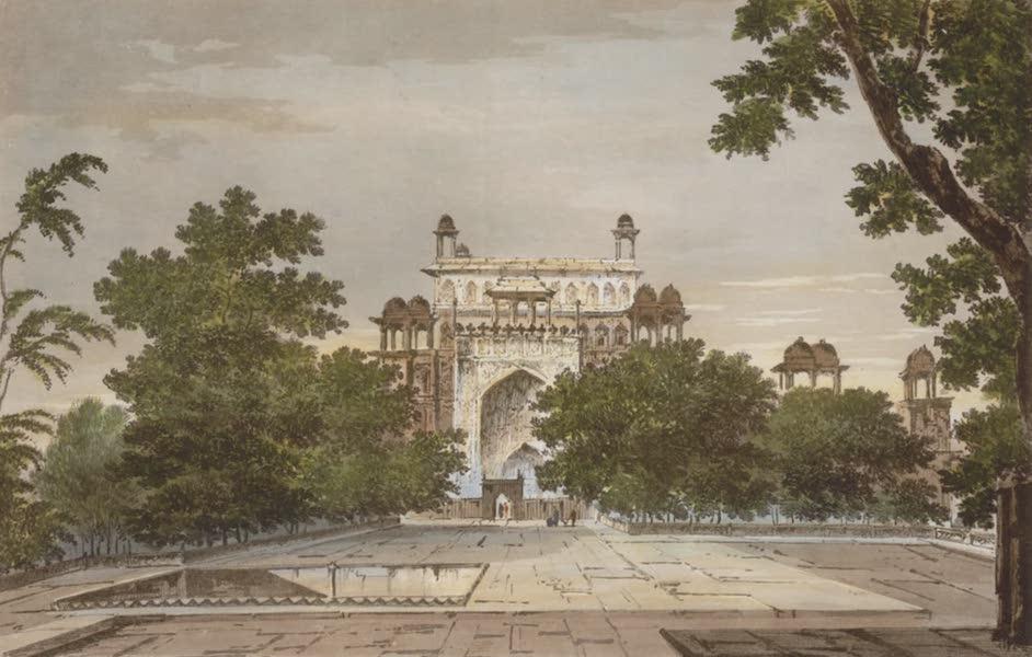 Select Views in India - A View of Part of the Tomb of the Emperor Akbar at Secundrii (1797)