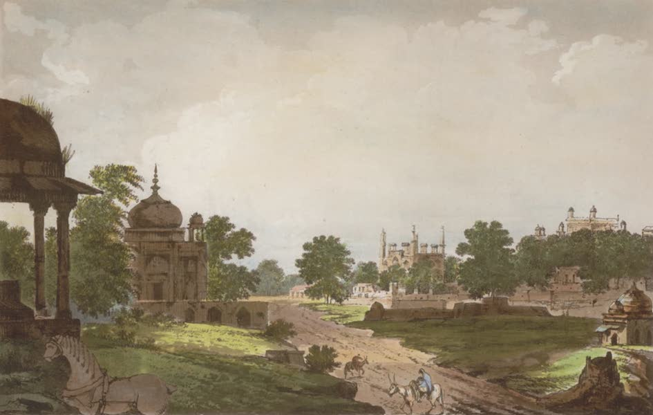 Select Views in India - A View of Tombs at Secundrii near Agra (1797)