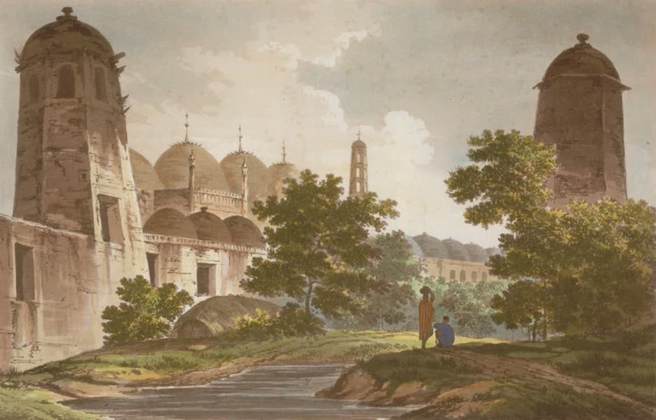 Select Views in India - A View of the Cuttera built by Jaffier Cawn at Muxadavad (1797)