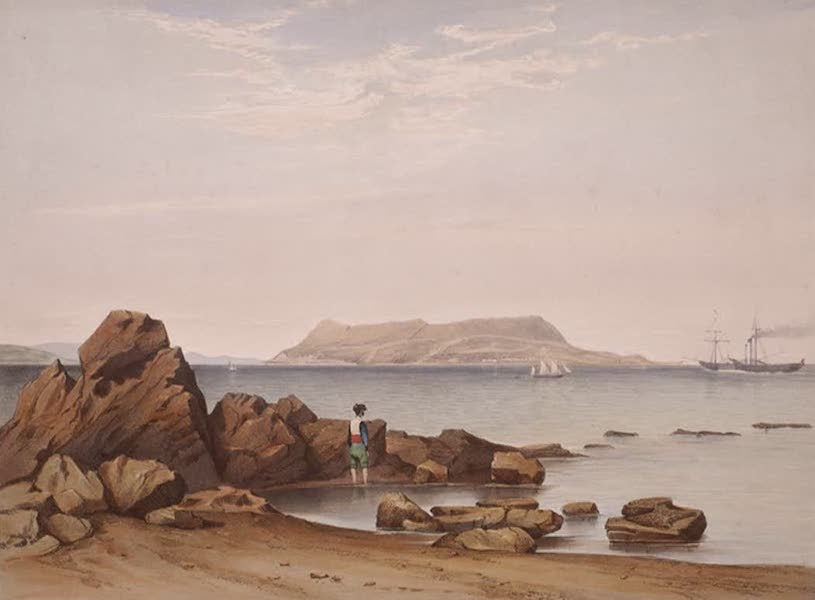 Select Views of the Rock and Fortress of Gibraltar - View of the Rock of Gibraltar from Sandy Bay (1846)