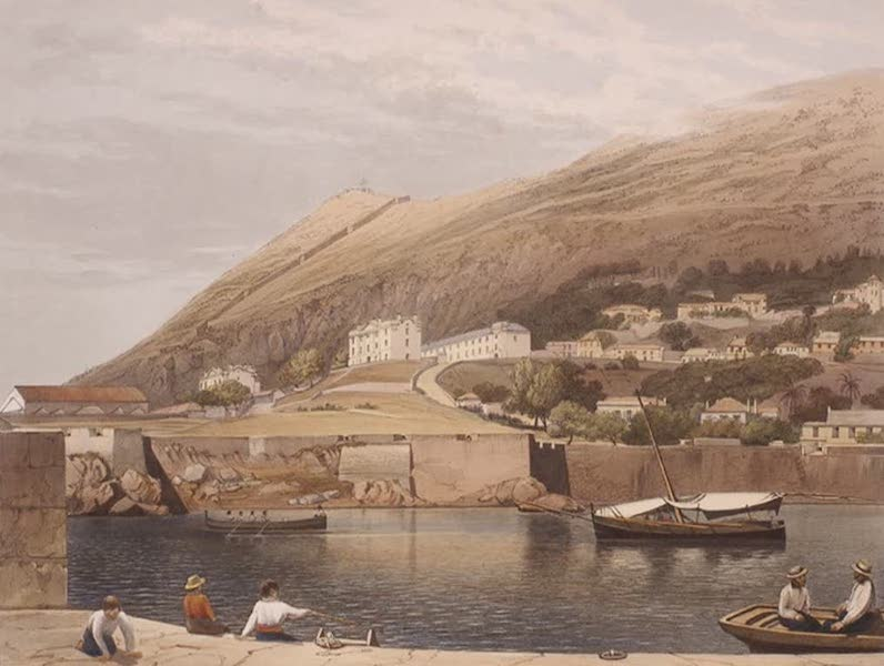 Select Views of the Rock and Fortress of Gibraltar - The South Barracks, from Rosia Bay (1846)