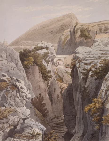Select Views of the Rock and Fortress of Gibraltar - Europa Pass (1846)