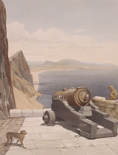 Select Views of the Rock and Fortress of Gibraltar - The Mediterranean Battery (1846)