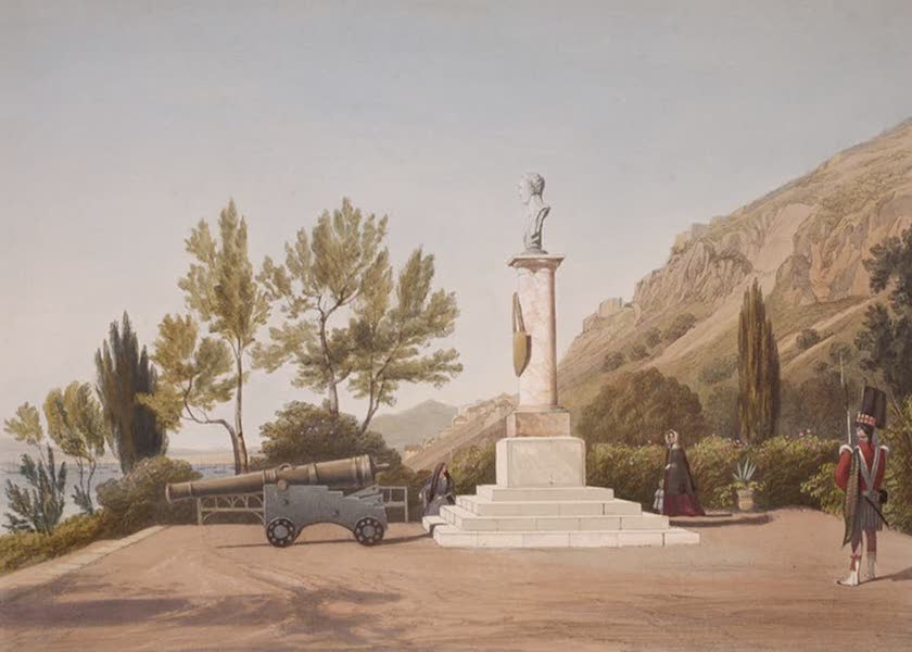 Select Views of the Rock and Fortress of Gibraltar - The Wellington Bust, Alameda Gardens (1846)