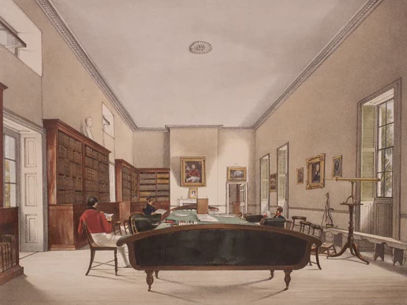 Select Views of the Rock and Fortress of Gibraltar - The Upper Room of the Gibraltar Garrison Library (1846)