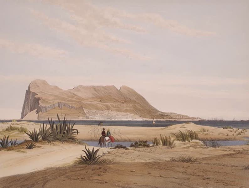 Select Views of the Rock and Fortress of Gibraltar - The Rock of Gibraltar from the San Roque Road (1846)