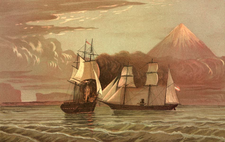 Service Afloat - The Alabama capturing her first prize off Pico, one of the western islands (1887)