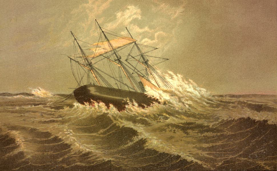 Service Afloat - The Alabama in a cyclone in the Gulf Stream on the 16th October, 1862 (1887)