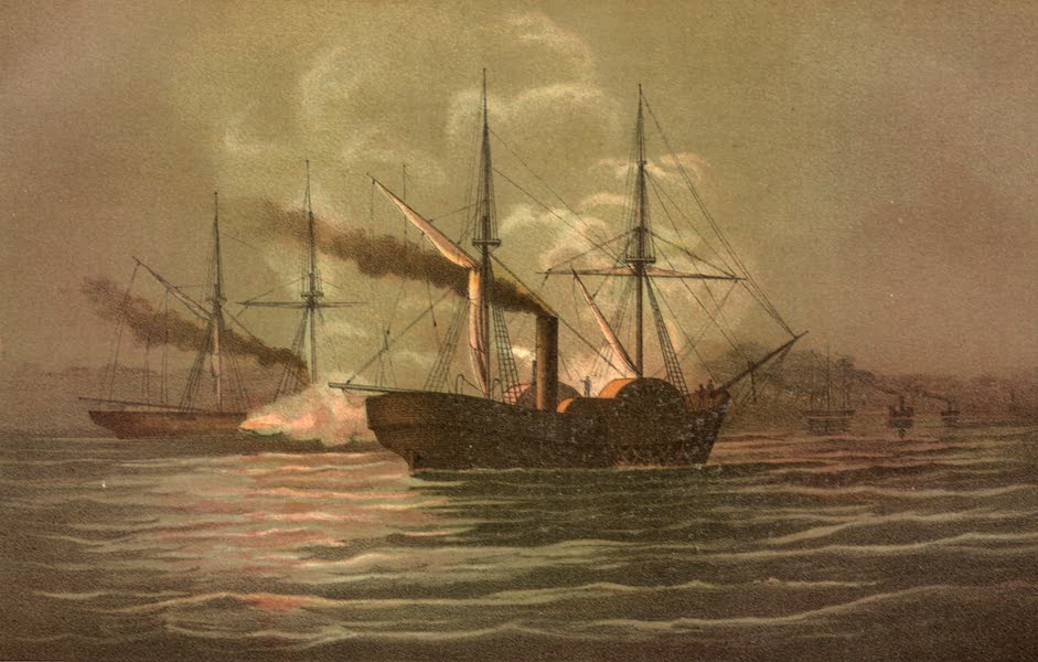 The combat between the Alabama and the Hatteras off Galveston on the 11th of January, 1863