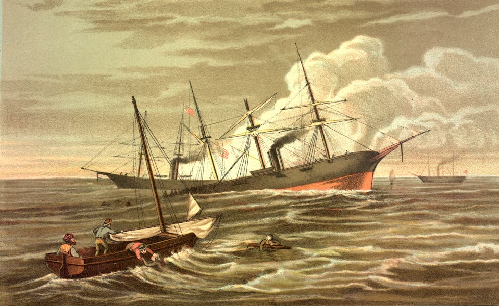 Service Afloat - The combat between the Alabama and Kearsarge off Cherbourg on the 19th of June, 1864 (1887)