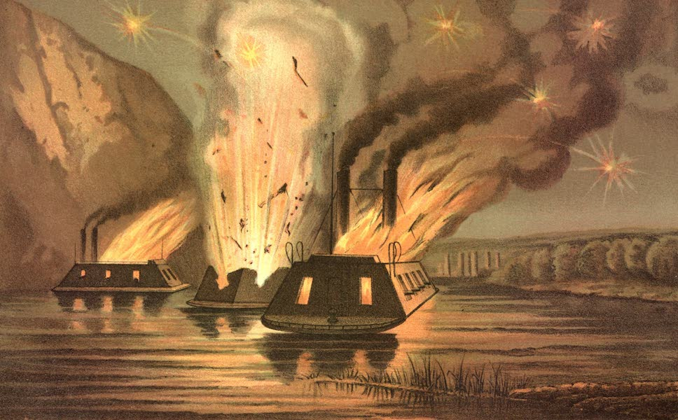 The blowing up of the James River Fleet on the night of the evacuation of Richmond