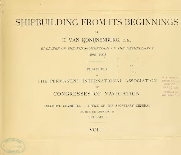 Shipbuilding from its Beginnings Vol. 1