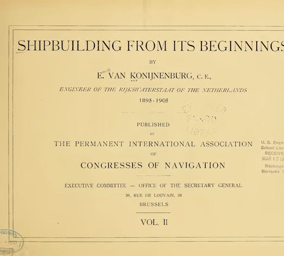 Shipbuilding from its Beginnings Vol. 2