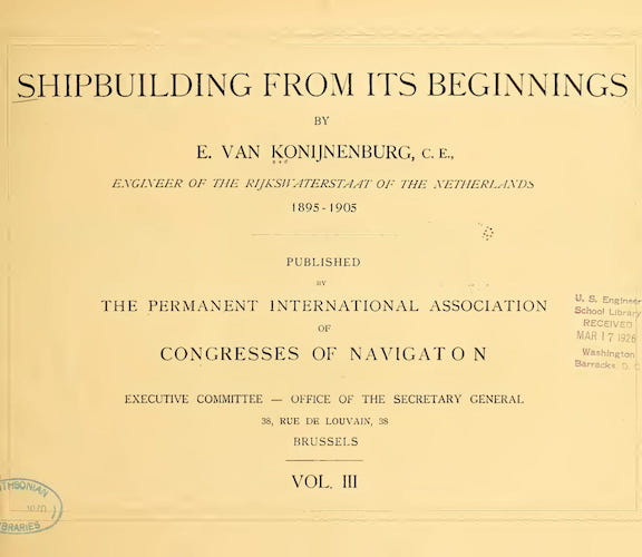 Shipbuilding from its Beginnings Vol. 3