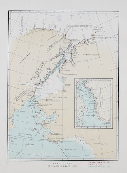 Shores of the Polar Sea - Sketch Map of the Expedition (1878)