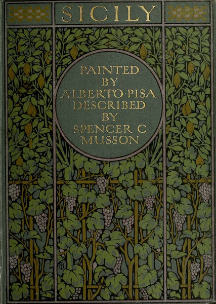 Sicily, Painted and Described - Front Cover (1911)