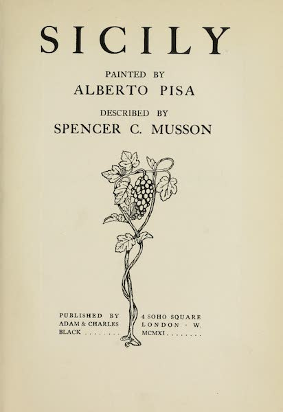 Sicily, Painted and Described - Title Page (1911)