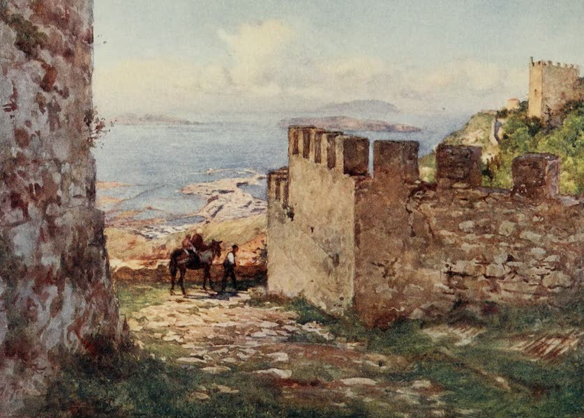 Sicily, Painted and Described - Trapani and the Aigadian Islands from Castle of Monte San Giuliano (1911)