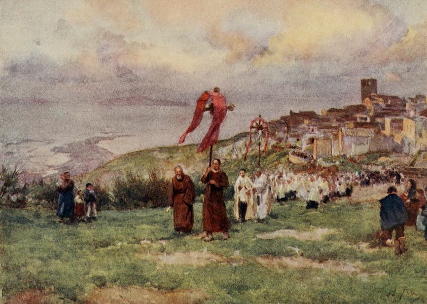 Sicily, Painted and Described - Procession, Monte San Giuliano (1911)