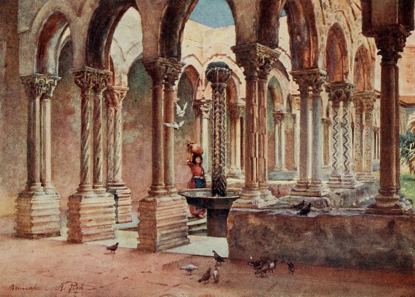 Sicily, Painted and Described - The Cloisters, Monreale (1911)