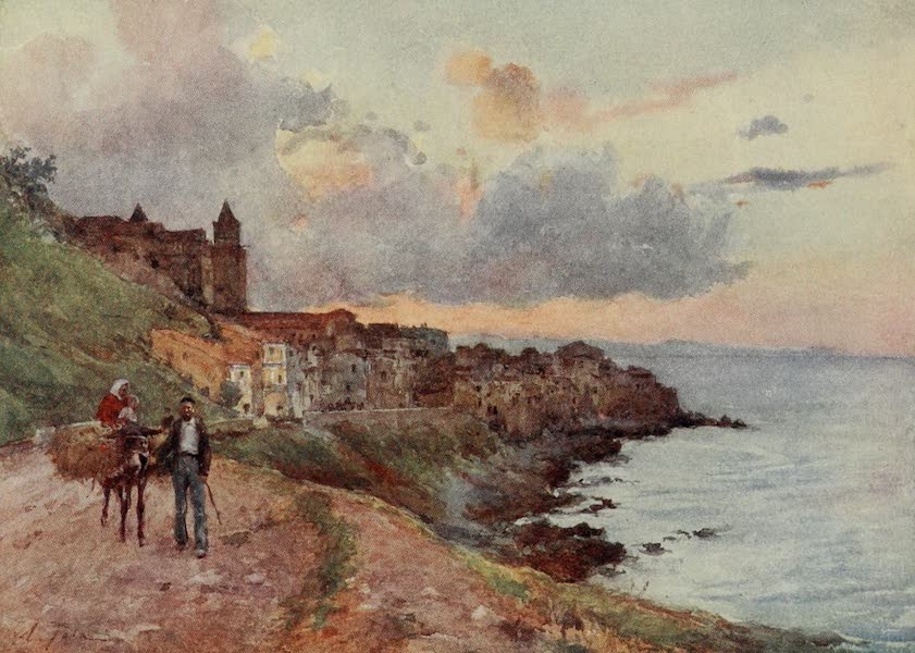 Sicily, Painted and Described - Cefalu : Sunset (1911)