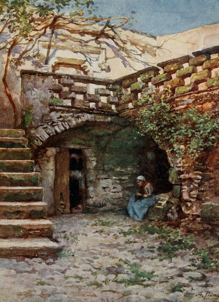Sicily, Painted and Described - Yard at Monte San Giuliano (1911)