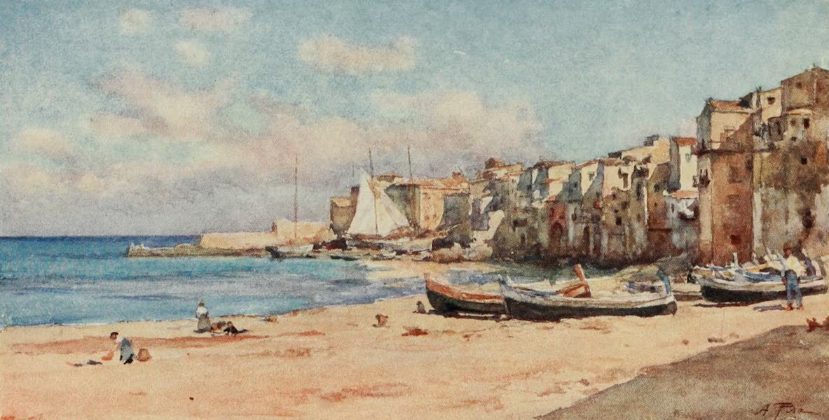 Sicily, Painted and Described - Port of Cefalu (1911)