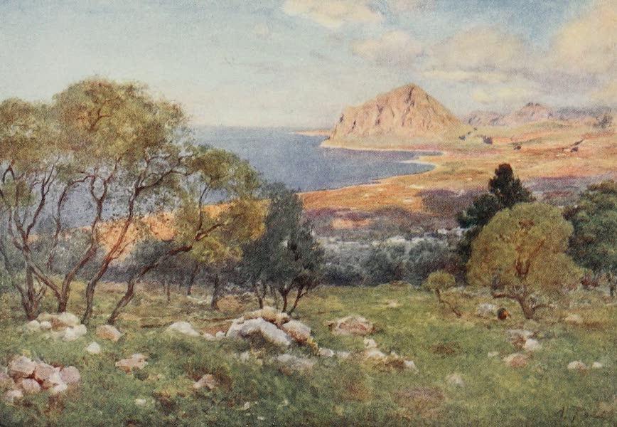 Sicily, Painted and Described - Monte Cofano from Portarella, Trapani (1911)