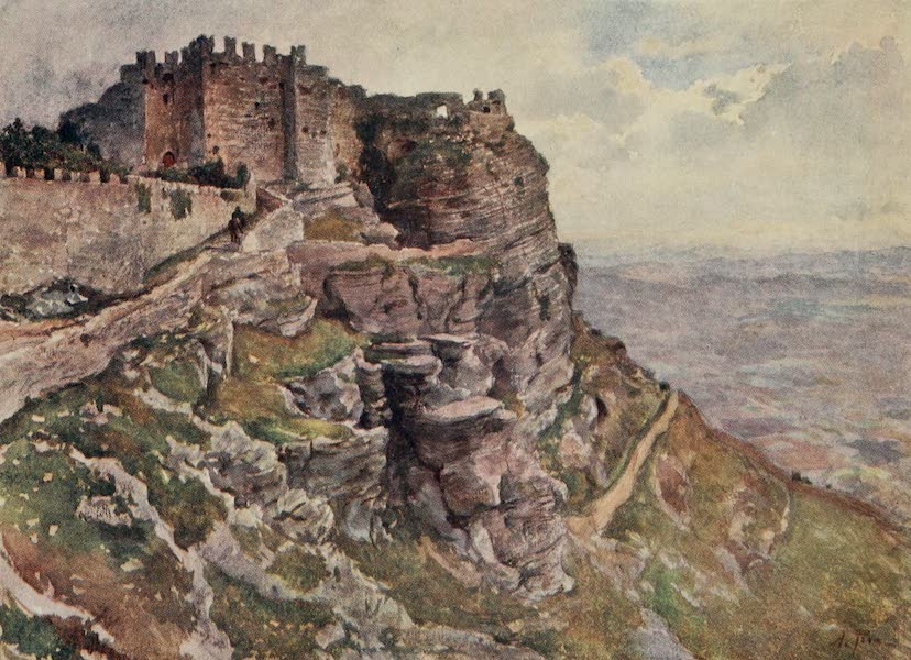 Sicily, Painted and Described - Castle of Monte San Giuliano (1911)