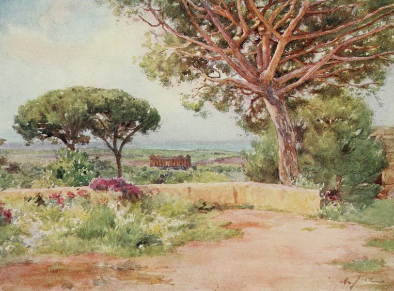 Sicily, Painted and Described - The Temple of Concord, Girgenti, from S. Nicola (1911)