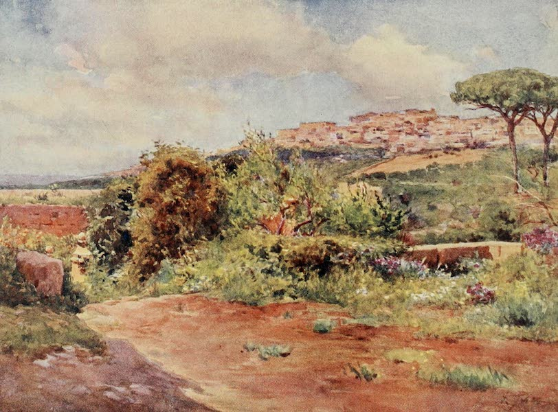 Sicily, Painted and Described - Girgenti from the Garden of S. Nicola (1911)