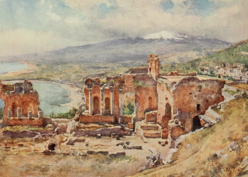 Sicily, Painted and Described - The Theatre, Taormina (1911)