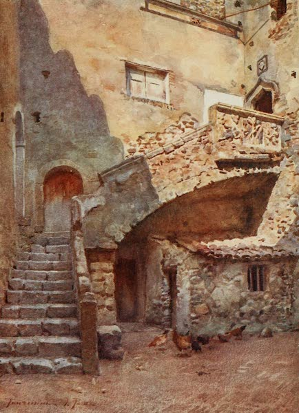 Sicily, Painted and Described - Cortile Palazzo Corvaia, Taormina (1911)