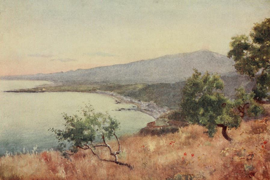 Sicily, Painted and Described - Etna, Giardini, and Schiso from Taormina (1911)