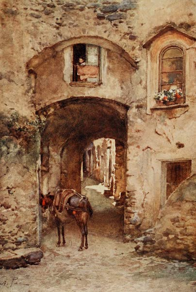 Sicily, Painted and Described - Street in Castrogiovanni (1911)