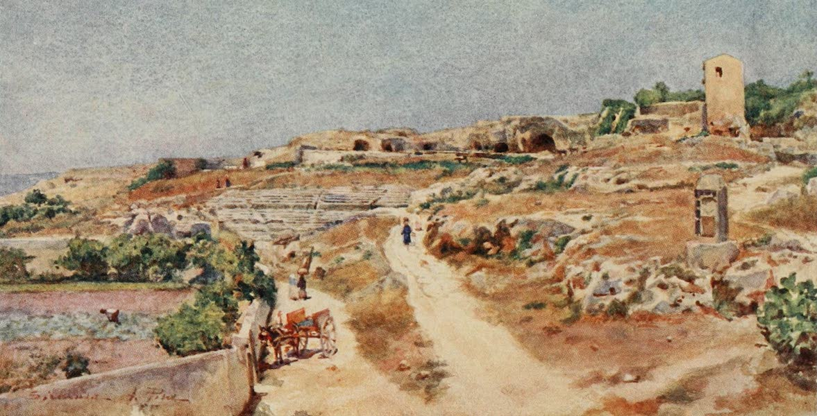 Sicily, Painted and Described - The Theatre and Street of Tombs, Syracuse (1911)