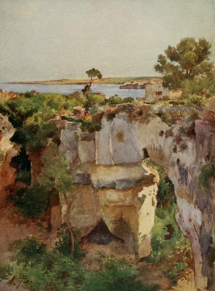 Sicily, Painted and Described - Latomia Dei Capuccini from Villa Politi, Syracuse (1911)
