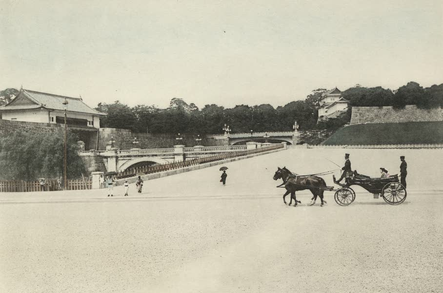 Sights and Scenes in Fair Japan - The Main Entrance to the Imperial Palace, Tokyo (1910)