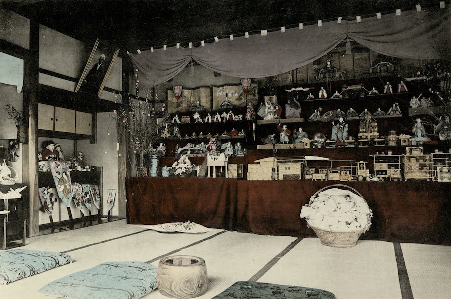 Sights and Scenes in Fair Japan - Display of Dolls and Toys on the Girl's Festival in March (1910)