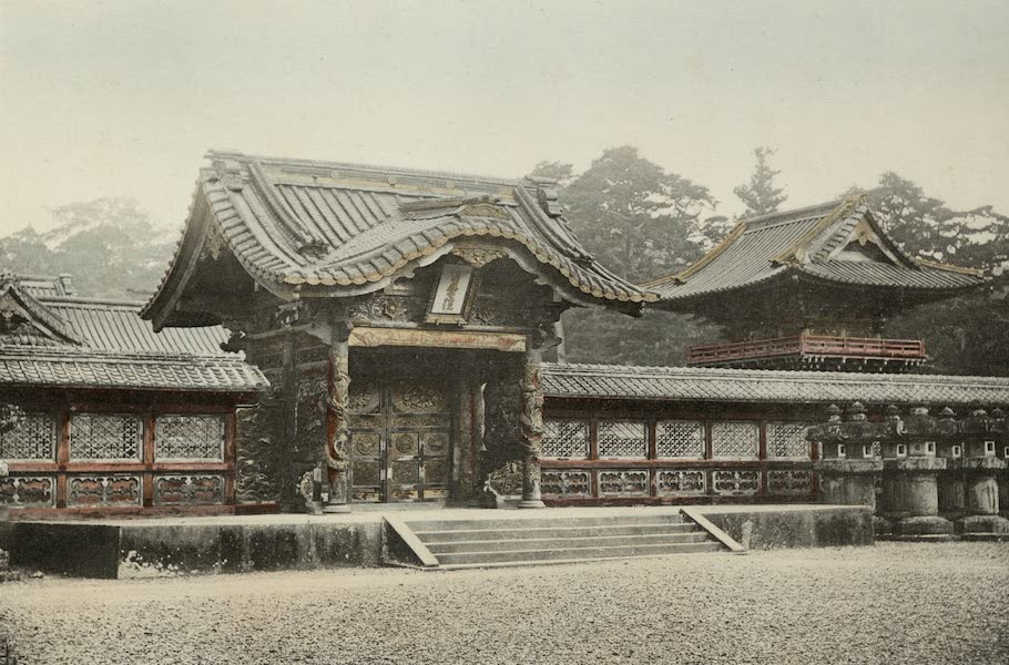 Sights and Scenes in Fair Japan - Entrance to the Mausolea of the Tokugawa Shoguns in Tokyo (1910)