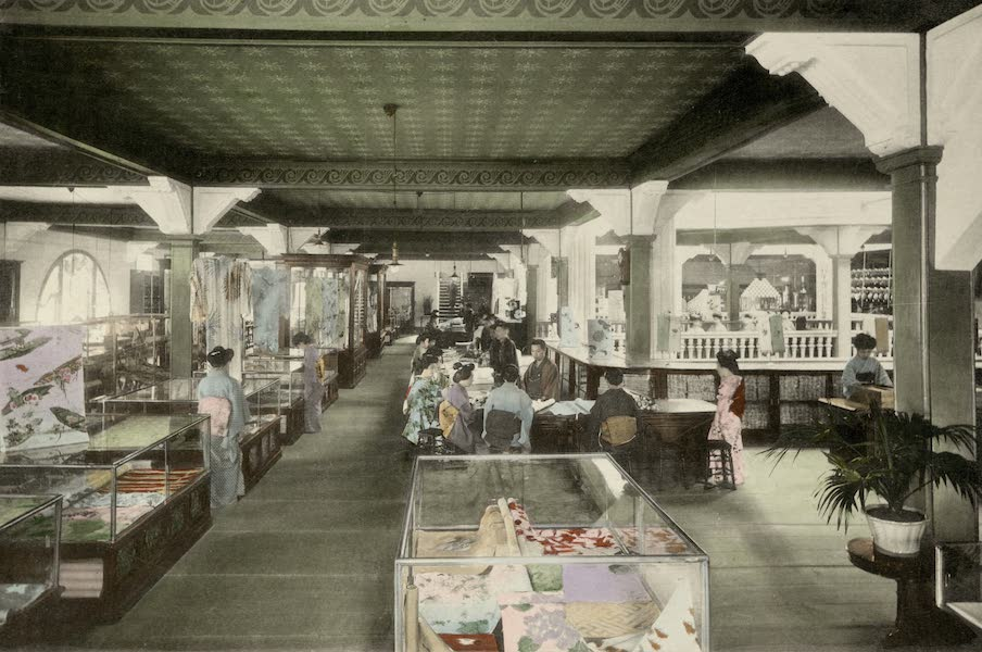 Sights and Scenes in Fair Japan - Interior of a Modern Department Store in Tokyo (1910)