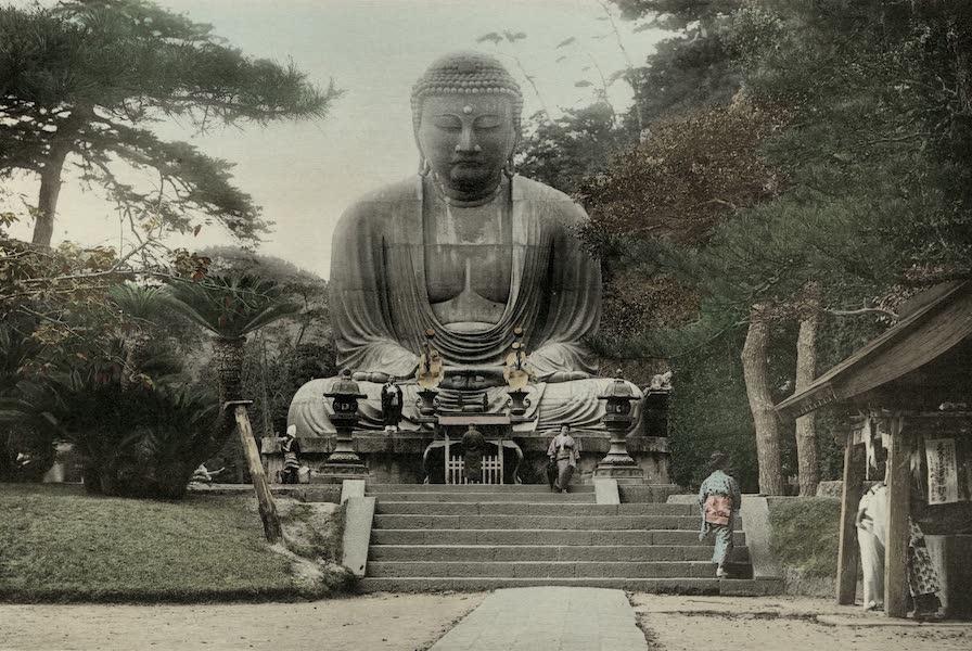 Sights and Scenes in Fair Japan - The Dalbutsu or Gigantic Bronze Statue of Buddha at Kamakura (1910)