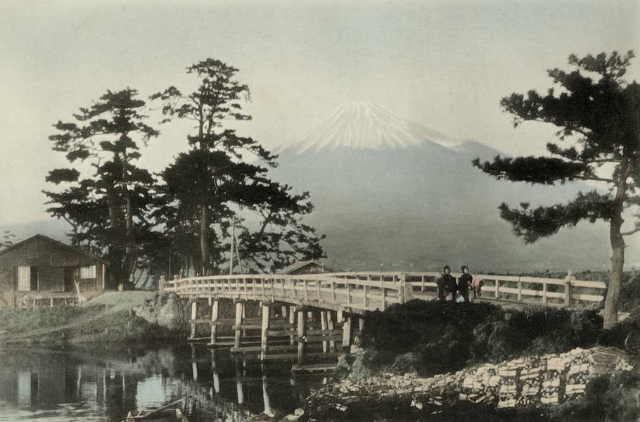 Sights and Scenes in Fair Japan - A View of Mt. Fuji (Height: 12,370 ft.) (1910)