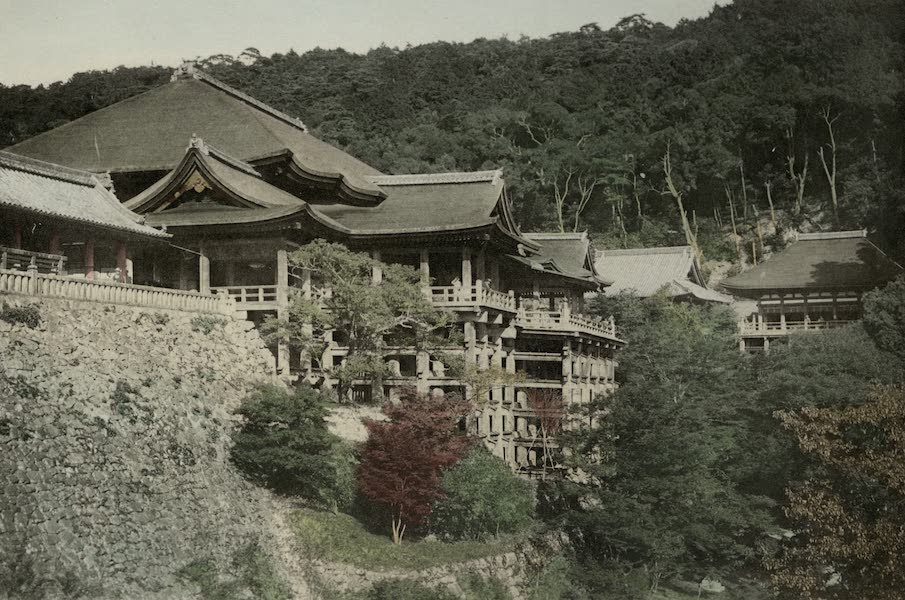 Sights and Scenes in Fair Japan - The Temple of Kiyomidzu at Kyoto (1910)