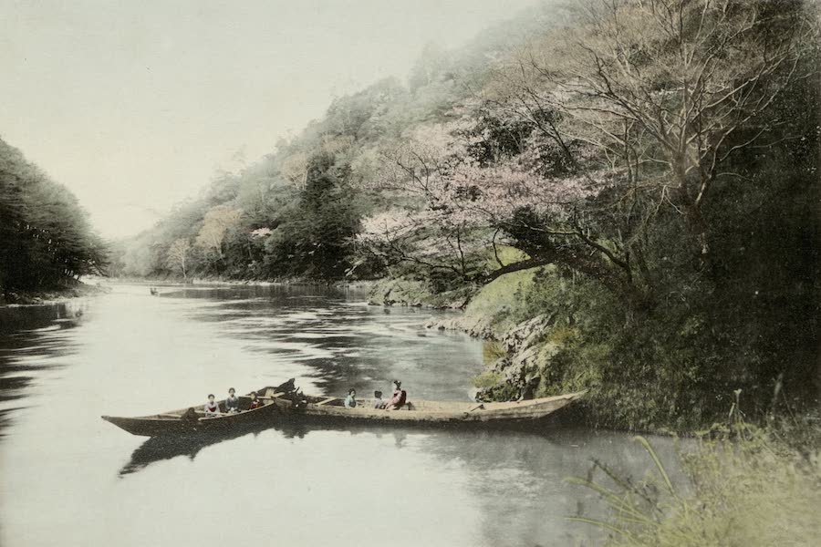 Sights and Scenes in Fair Japan - A River Picnic in Spring under the Plum Blossom (1910)