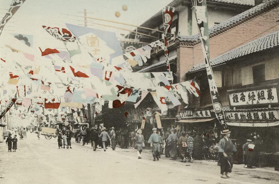 Sights and Scenes in Fair Japan - Dotombori - A Popular Amusement Quarter in Osaka (1910)